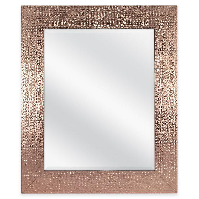 Alternate image 1 for Door Solutions™ 36-Inch x 30-Inch Large Rectangular Sequin Mirror in Copper