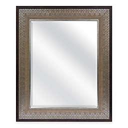Door Solutions Embossed 36-Inch x 30-Inch Rectangular Over-the-Door Mirror in Grey