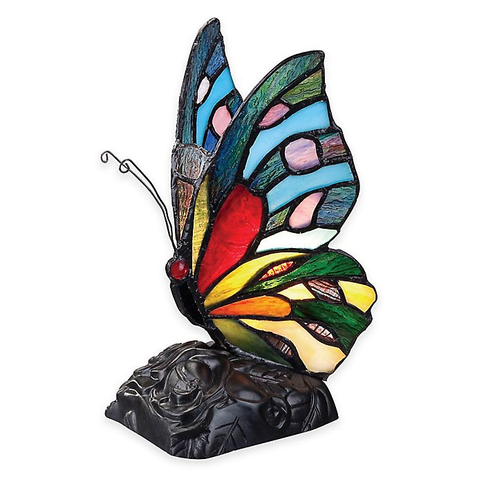 Quoizel Tiffany Rainbow Butterfly Table Lamp Bed Bath Beyond