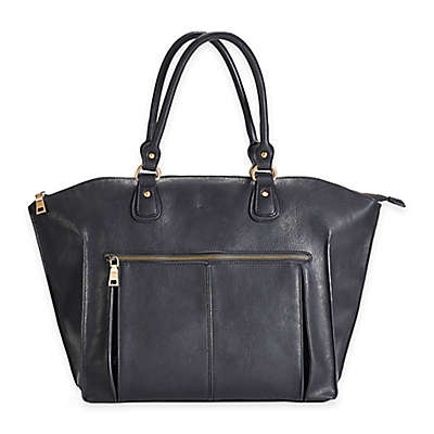 Newlie Lily Tote Diaper Bag in Black