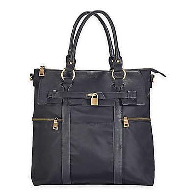 Newlie Louise Backpack Diaper Bag in Black