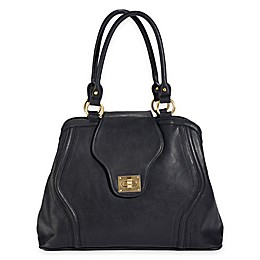 Newlie Gail Satchel Diaper Bag in Black