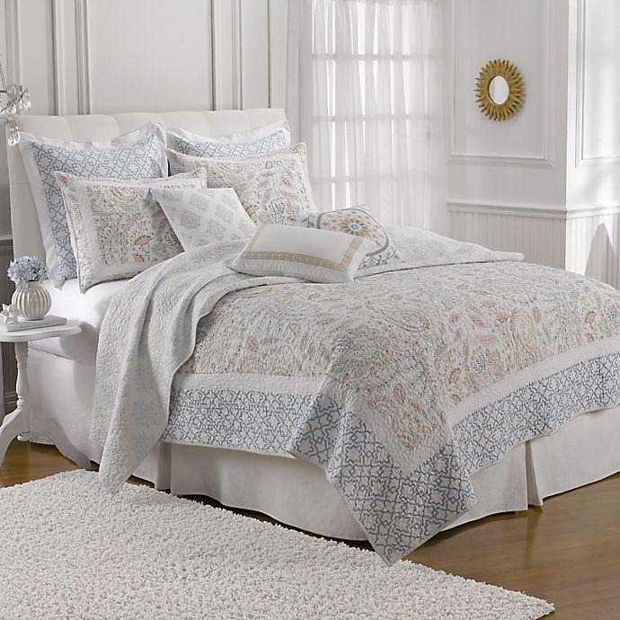 Alternate image 1 for Dena™ Home Sophia Reversible Quilt in Blue