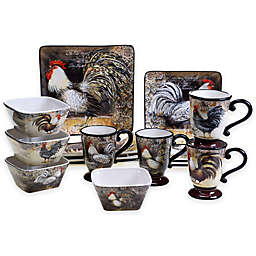 Certified International Vintage Rooster Dinnerware Collection