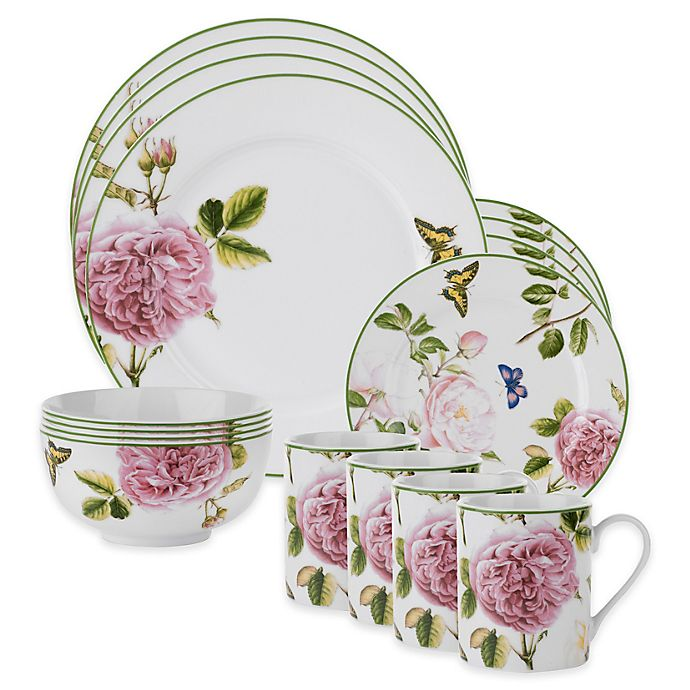 Alternate image 1 for Spode Home® Roses 16-Piece Dinnerware Set