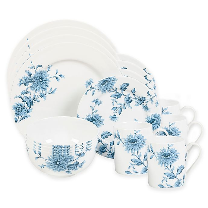 Alternate image 1 for Spode Home® Vintage Denim 16-Piece Dinnerware Set