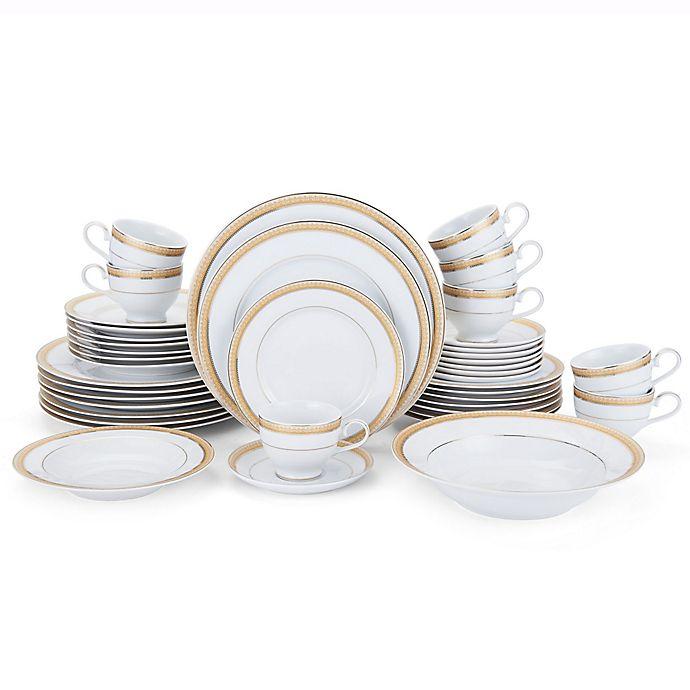 Alternate image 1 for Mikasa® Gold Crown 42-Piece Dinnerware Set