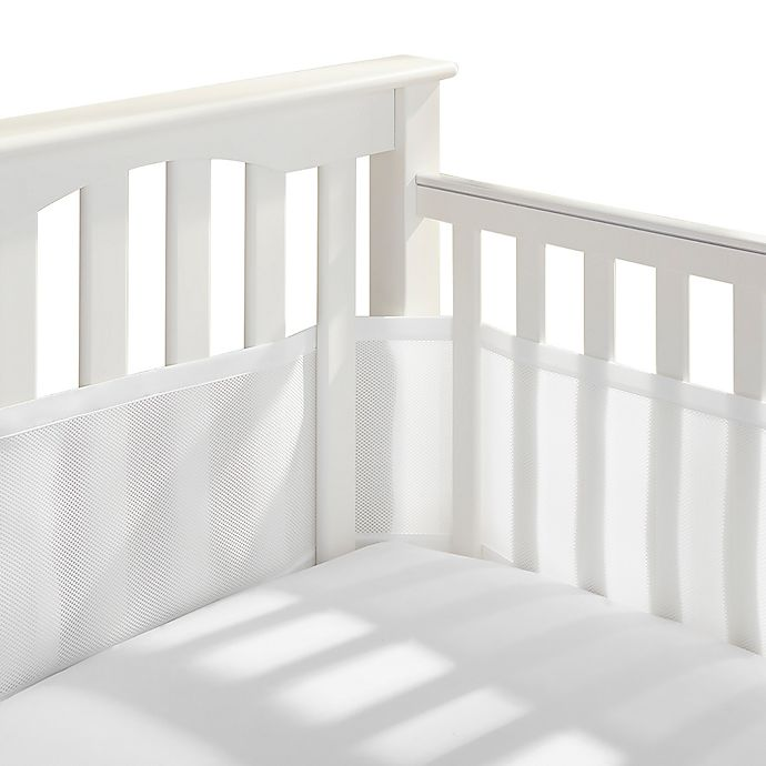 Alternate image 1 for BreathableBaby® Breathable Mesh Crib Liner in White