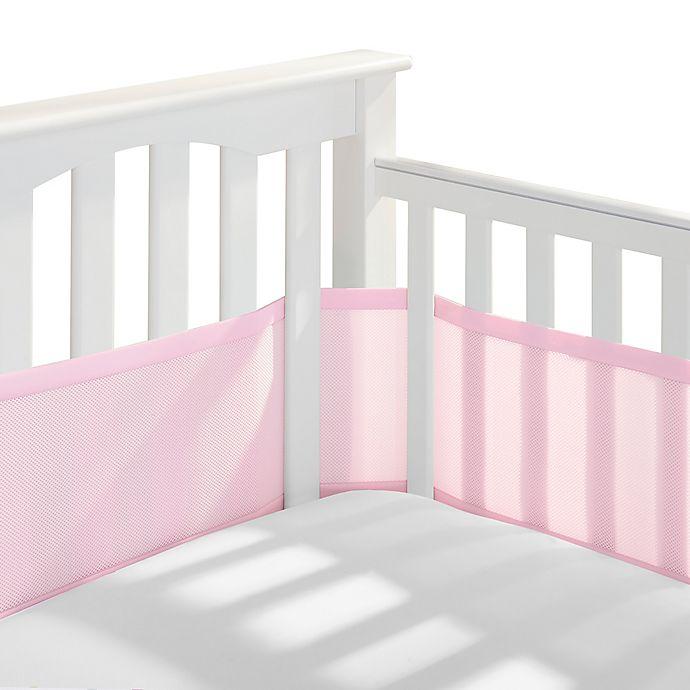 Alternate image 1 for BreathableBaby® Mesh Crib Liner in Light Pink