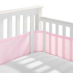 BreathableBaby® Mesh Crib Liner in Light Pink