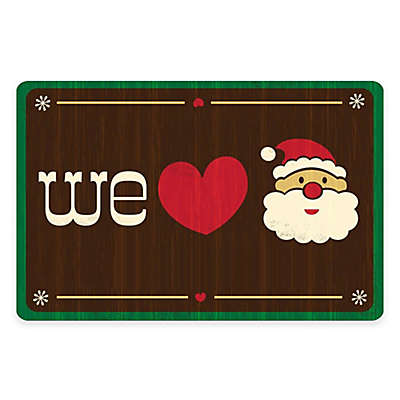 The Softer Side by Weather Guard™ We Love Santa Kitchen Mat