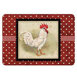 The Softer Side by Weather Guard™ White Rooster Kitchen Mat