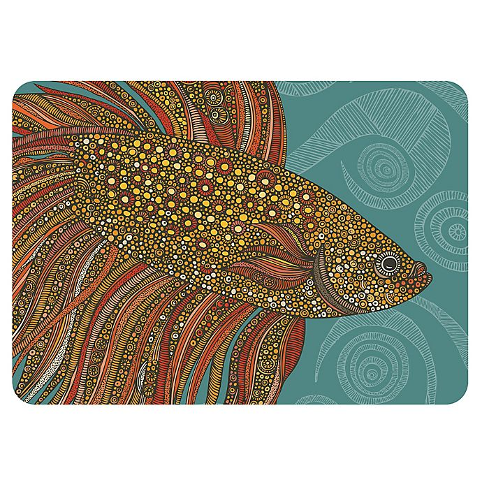 Alternate image 1 for The Softer Side by Weather Guard™ Valentina Beta Fish Kitchen Mat
