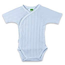 kushies® Short Sleeve Ribbed Wrap Bodysuit in Blue