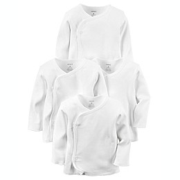 carter's® 4-Pack Long Sleeve Kimono T-Shirts in White