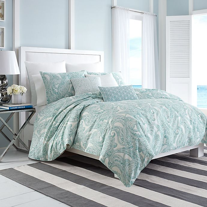 Nautica Long Bay Duvet Cover In Aqua Bed Bath Beyond