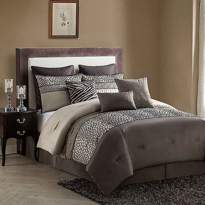 Alternate image 1 for VCNY Mali 9-Piece King Comforter Set in Brown