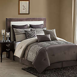 VCNY Mali 9-Piece Comforter Set in Brown