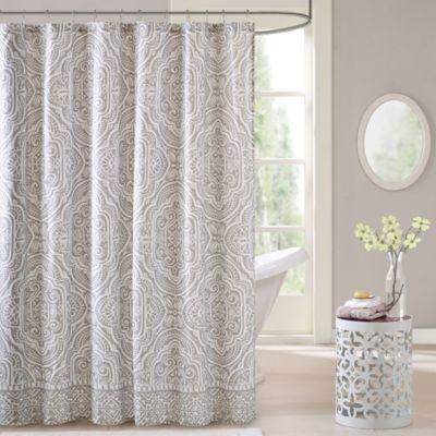 Intelligent design nitza shower curtain in grey bed bath beyond - Intelligent shower ...