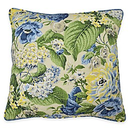 Waverly® Floral Flourish Square Throw Pillow in Porcelain