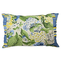 Waverly® Floral Flourish Pieced Oblong Throw Pillow in Porcelain