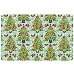 The Softer Side by Weather Guard™ Yuletide Trees 1 Kitchen Mat
