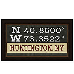 Huntington Coordinates 16-Inch x 28-Inch Framed Wall Art
