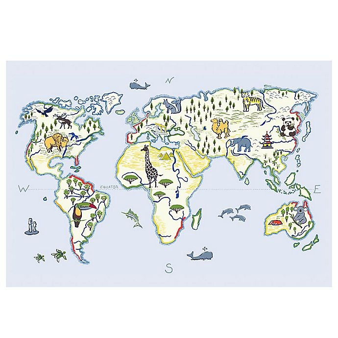 Alternate image 1 for The Softer Side by Weather Guard™ 18-Inch x 27-Inch Animals of the World Kitchen Mat
