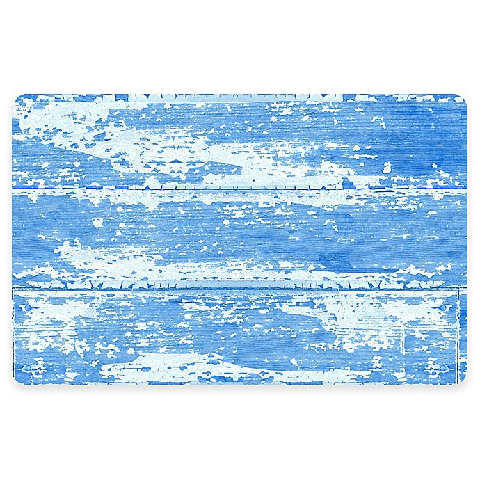 Alternate image 1 for The Softer Side by Weather Guard™ 23-Inch x 36-Inch Barnboard Kitchen Mat in Blue