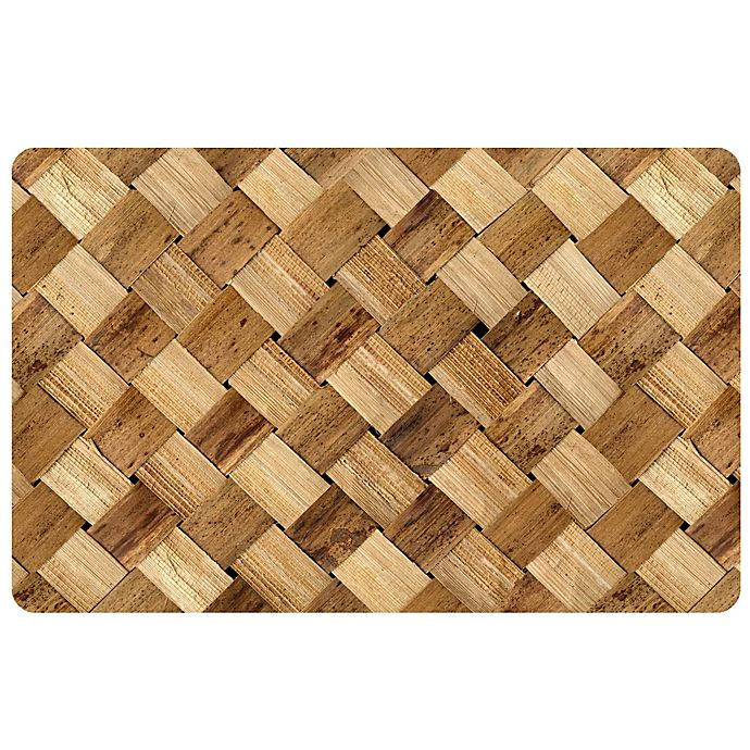 The Softer Side By Weather Guard Basketcase Kitchen Mat Bed Bath Beyond