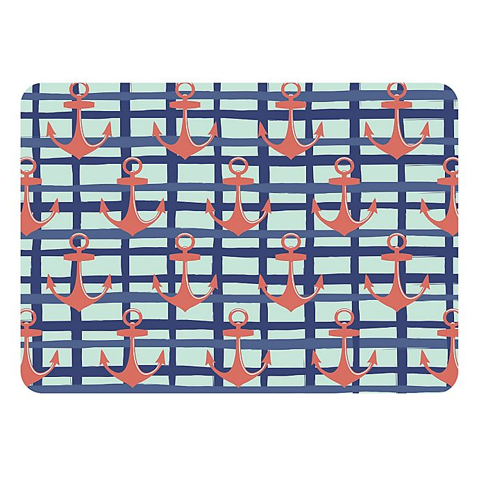Alternate image 1 for The Softer Side by Weather Guard™ 23-Inch x 36-Inch Anchors Plaid Kitchen Mat