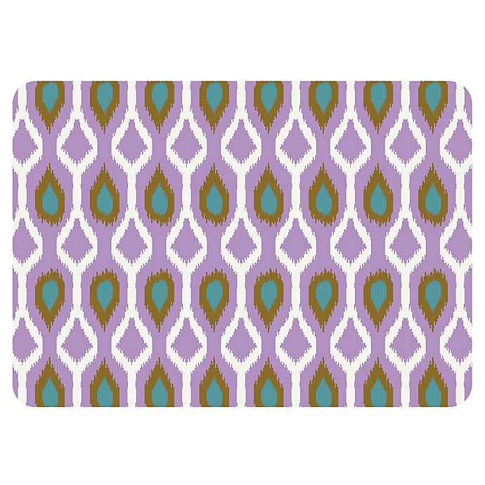 Alternate image 1 for The Softer Side by Weather Guard™ 18-Inch x 27-Inch Clairebella Ikat Tribe Kitchen Mat in Violet