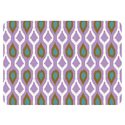 The Softer Side by Weather Guard™ Clairebella Ikat Tribe Kitchen Mat in Violet