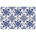 The Softer Side by Weather Guard™ Delft Floral 23-Inch x 36-Inch Kitchen Mat