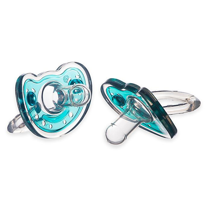 Alternate image 1 for Joovy® SiliNoogie 2-Pack Pacifier in Blue