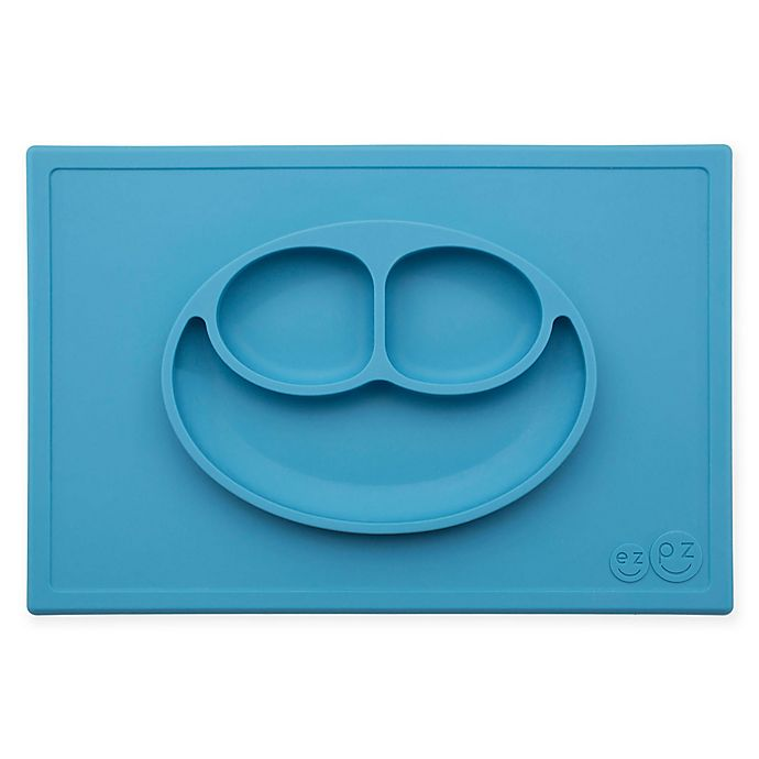 Alternate image 1 for ezpz Happy Mat Placemat in Blue