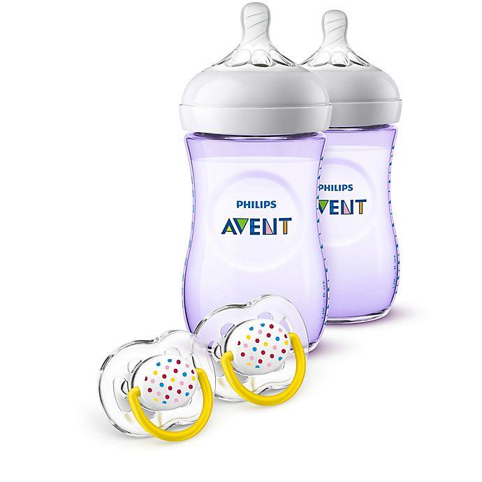 Alternate image 1 for Philips Avent Natural 9 oz. Bottle Gift Set in Purple