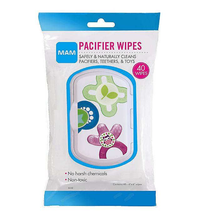 Alternate image 1 for MAM 40-Pack Pacifier Wipes