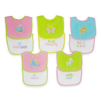 Neat Solutions® 10-Pack of Waterproof Multicolored Girl Bibs