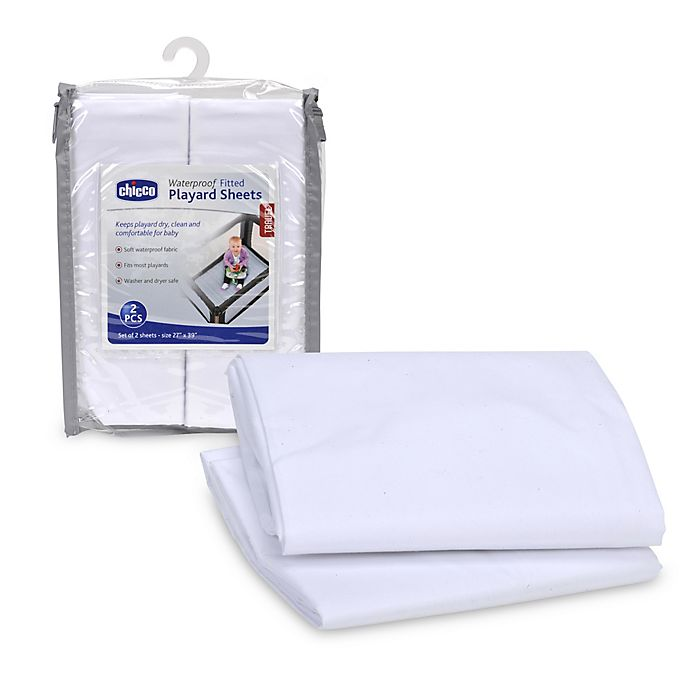 Alternate image 1 for Chicco® 2-Pack Playard Sheets in White