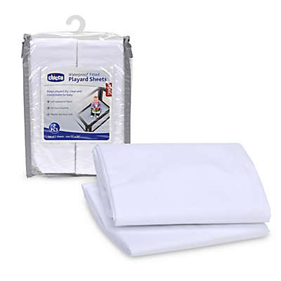 Chicco® 2-Pack Playard Sheets in White