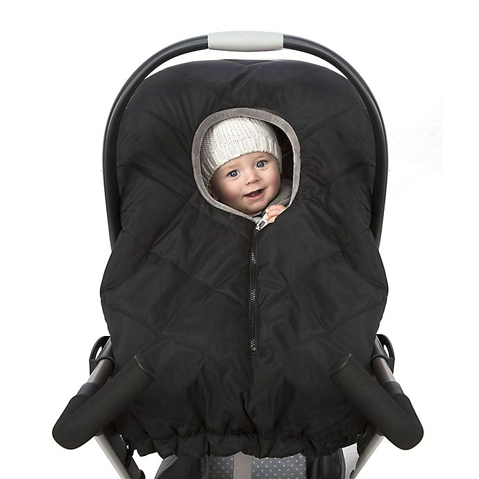 Alternate image 1 for Chicco® Universal Quilted Infant Carrier Weather Shield in Black