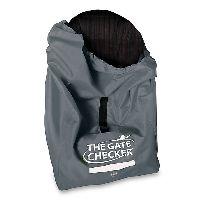 Alternate image 1 for Nuby™ Car Seat Gate Checker Bag in Grey