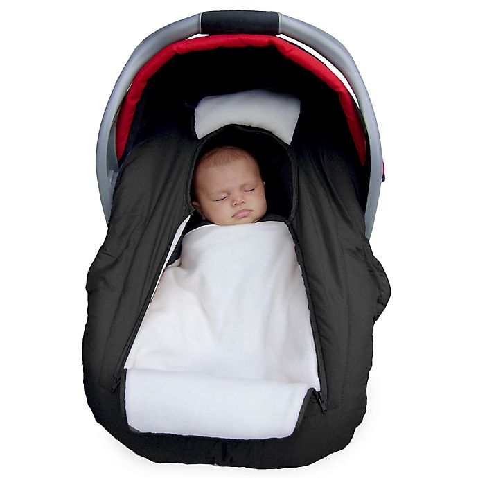 Alternate image 1 for Jolly Jumper Arctic Sneak-A-Peek Car Seat Cover in Black