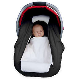 Jolly Jumper Arctic Sneak-A-Peek Car Seat Cover in Black