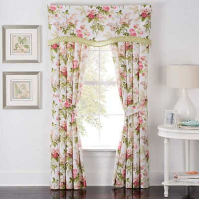 Waverly® Emma\'s Garden Rod Pocket Window Curtain Panel Pair in Blossom