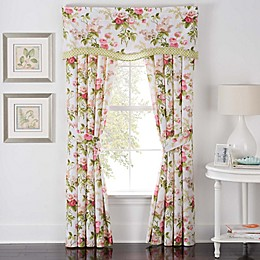 Waverly® Emma's Garden Rod Pocket Window Curtain Panel Pair in Blossom