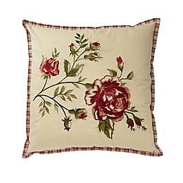 Waverly® Norfolk Reversible Cabbage Rose Throw Pillow