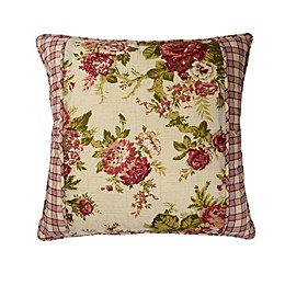Waverly® Norfolk Reversible Cabbage Rose/Gingham Throw Pillow