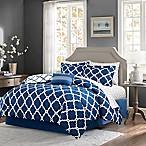 Madison Park Essentials Merritt 9-Piece Reversible King Comforter Set in Navy